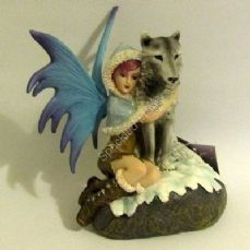 Snow Fairy with Wolf Companion